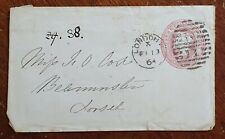 1864 Pre Paid Cover Miss Cox, Beaminster, Dorset