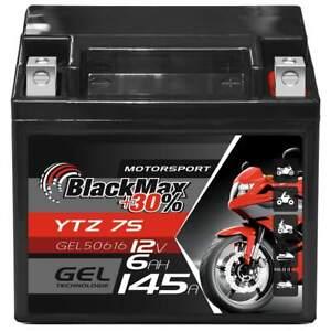 *NEUWERTIG* BlackMax YTZ7S Motorradbatterie GEL 12V 6Ah TTZ7S-BS