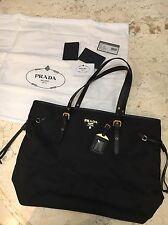 BNWT PRADA Tessuto Saffiano Black Nero Nylon Tote Shopping Shoulder Bag