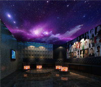 3D Purple Galaxy Sky 8 Wall Paper Wall Print Decal Wall Deco AJ WALLPAPER Summer