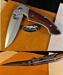 Browning 337 Pocket Hunting/Caming Knife w/125th Anniversary Pin