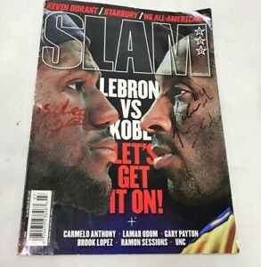RARE! Kobe Bryant Lebron James Signed In Person Autographed Slam Magazine