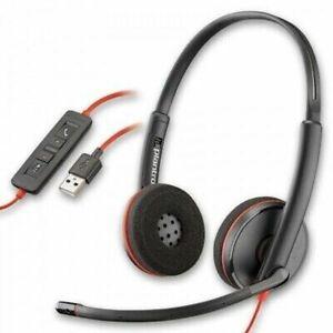 New Plantronics Blackwire C3220 Binaural USB Stereo Headset - P/N 209745-101