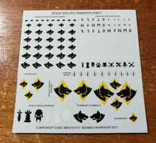 Warhammer 40k Space Marine Wolves Bits:ThunderWolf Wolf Transfer Sheet