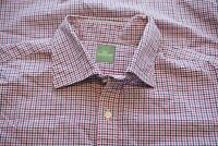 Sid Mashburn Pink Blue White Gingham Check Plaid Button Up Shirt Sz M