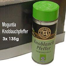 Moguntia Knoblauch Pfeffer Gewürzsalz 3x 135g Gewürz für Kenner und Profis