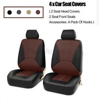 4PCS Front Seat Universal Car Seat Covers Faux Leather Breathable Cushion %