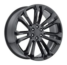 "4) 24"" GMC Sierra Style Gloss Black Wheels Rims Set Chevy Silverado 22"