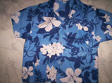 Cooles Hawai-Hemd in blau-weiß, neuw.  Gr. 74/80
