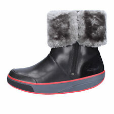 women's shoes MBT 6 / 6,5 (EU 37) ankle boots black gray leather fur AB225-B
