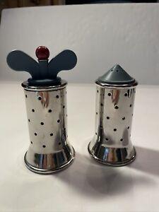 Alessi Italy Michael Graves Salt Shaker & Pepper Mill Stainless Steel Set