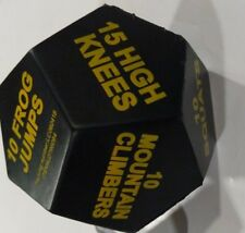 """New Roll Your Way To Fitness With Jumbo Sports Foam Dice Choice Of  Five 4"""" X 4"""""""
