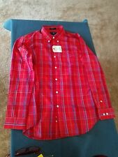 Saddlebred men's red plaid shirt sz L. New with tag.