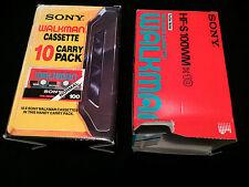 SONY WALKMAN CARRY PACK EMPTY CARDBOARD BOX AND EMPTY CARTON