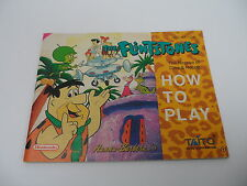 The Flintstones (FRA) Nintendo NES Manual only