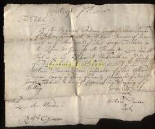 1756 warkworth Northumberland, doct., Geo. FAIRBAIRN di etal & William Duncan