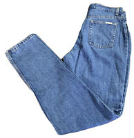 Arizona Women's Medium Wash Blue Jeans Tag Size 13 Long Actual 30 X 32 High Rise