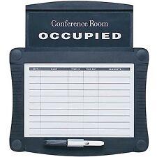"""Quartet Conference Room Schedule Sign 15-1/2""""x14-1/4"""" Black 995"""
