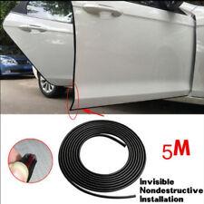 79FA 5 Meter Black Chrome Moulding Trim Strip Car Door Edge Lip Strip Guard Trim