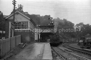 Fowey Station 0-4-2T 1419 18.8.54 Railway Negative RN110