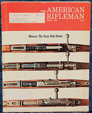 Vintage Magazine American Rifleman, MARCH 1975 !!! The MAUSER STORY, Part 1 !!!