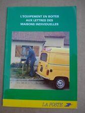 PUBLICITE LA POSTE PTT 1987 equipement en boites aux lettres