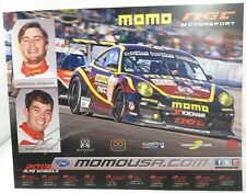 PROMO CARD cm 21x27 PORSCHE 997 GT3 Cup NGT MOMO Sean Edwards ALMS 2013 signed
