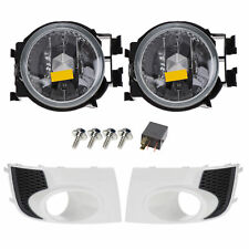 2011-2014 Subaru Impreza WRX Fog Light Lamps & Bezels Satin White Pearl OEM NEW