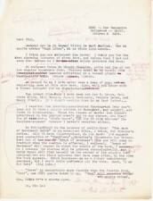 1935 first draft letter by FORREST J ACKERMAN to KARA KLEJ on Science Fiction.