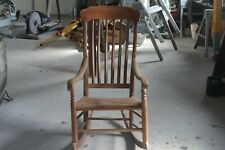 antique cane seat wood rocking chair