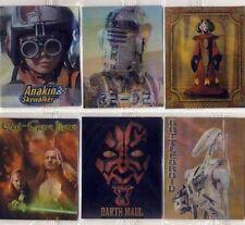 Star Wars Lenticular 3D / 4D Motion Flip Images 6 card set Episode 1