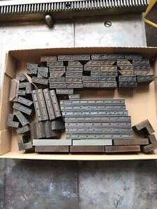 Vintage letterpress printing wood type 1/4 inch thickness appx 75 pieces.