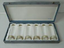 6 Bicchieri da bibita in Cristallo RCR e Argento 800 Anni 70 OMA19