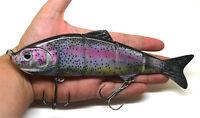 "8"" Pike Muskie Musky Fishing Lure Bait Swimbait Life-like Rainbow Trout"