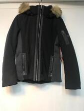 Fera Womens Danielle Parka Faux Fur Black Size 12 Snow Ski Jacket Coat New