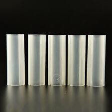 4 Pcs Plastic 18650 Battery Tube RUr Flashlight Torch Lamp Light White 6 cm RU