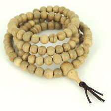 108 Beads Agarwood Mala Bracelet/Necklace Meditation 7mm from Indonesia 白沙沉香 012