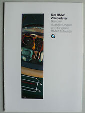 Prospekt BMW Z 3 Sonderausstattungen und Original BMW Zubehör, 2.1995, 12 Seiten