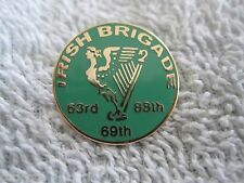 "The CIVIL WAR ""IRISH BRIGADE"" Regiment w/Irish Maiden & Harp Irish Brigade Pin"