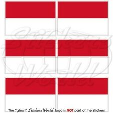 """INDONESIA Flag Indonesian Republic 1.6"""" Mobile Cell Phone Mini Sticker, Decal x6"""