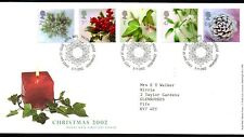 GB 2002 Christmas Stamps FDC with Tallents House postmark