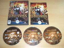 Lord Of The Rings THE RETURN OF THE KING Pc Cd Rom Original + Manual FAST POST