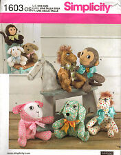 From UK Sewing Pattern Stuffed Toys #1603