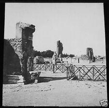 Glass Magic lantern slide ROME THE PALATINE PALACE OF AUGUSTUS C1900 ITALY ROMA