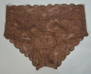 NWT Cosabella Never Say Never Low Rise Lace Hotpant Panty Due Brown #784896