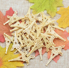15Pcs Wood Colored Eiffel Tower Wood Beads For DIY Craft Supplies 4cm x2.3cm