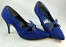 "Vintage Blue Suede Shoes 4"" Heels 6B Narrow Heel Miles Fifth Ave.New"
