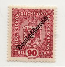 Austria 1918-19 Early Issue Fine Mint Hinged 90h. Optd 220898