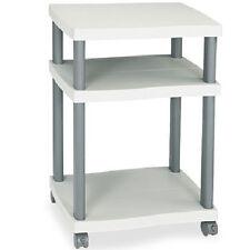 desk side printer cart home office organizer mobile machine stand plastic shelf - Printer Cart