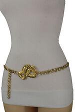 Women High Waist Hip Gold Plus Size Fashion Belt Metal Chain Cobra Snake M L XL